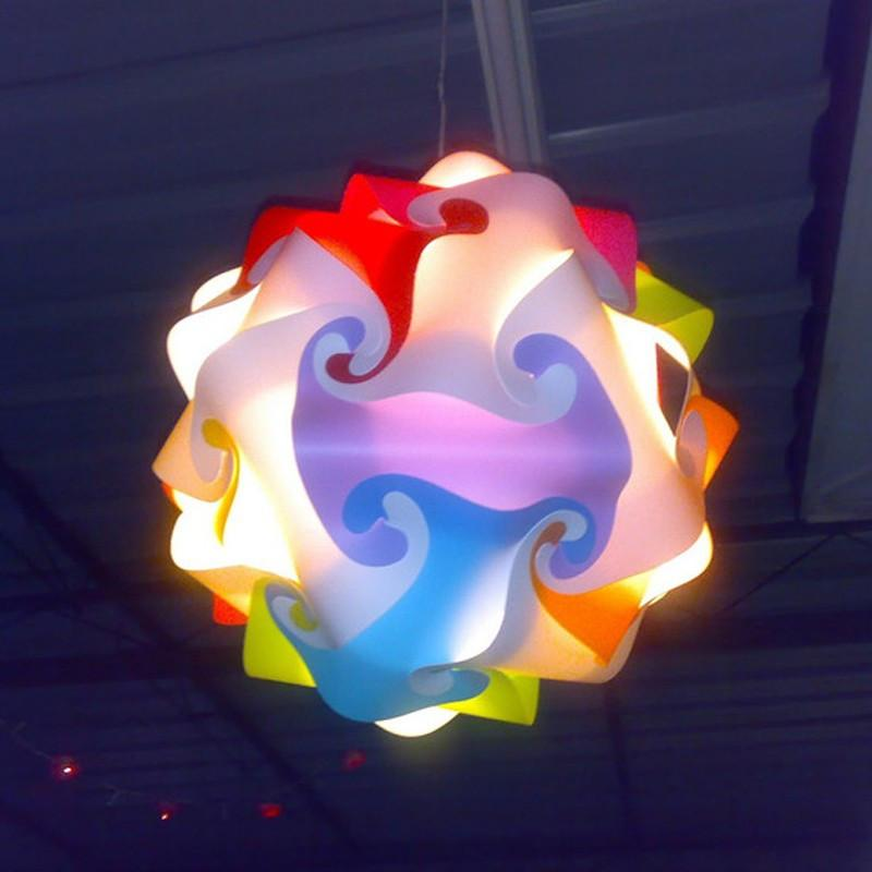 Modern IQ Puzzle Lamp Multi colour