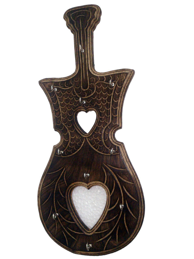 Desi Karigar Antique Guitar Shape Key Holder