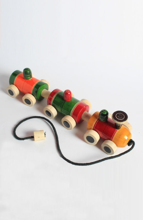 Handcrafted Pull Toy - Wooden Train