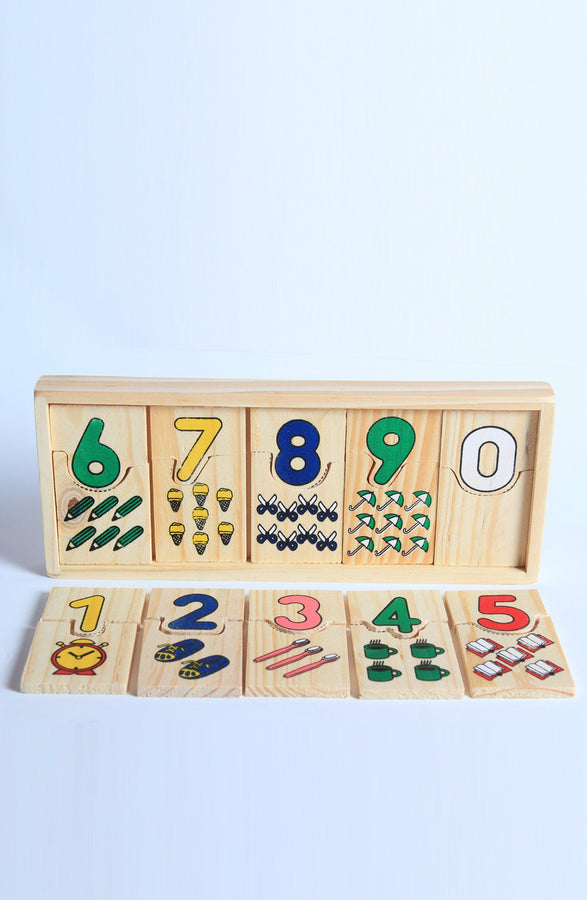 Wooden Number Puzzle Toys - 1 To 10