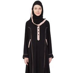 Beautiful and Elegant Black & Pink Abaya
