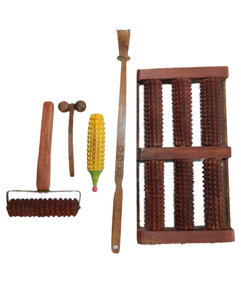 Desi Karigar Wooden Accupressure Massager - Set Of 5