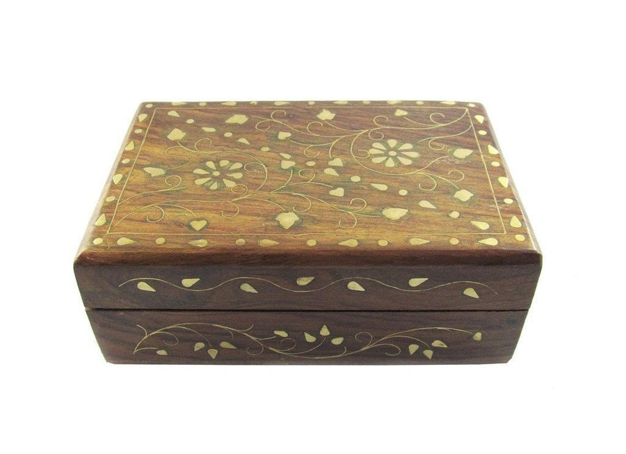 Desi Karigar Wooden Jewellery Box With Classic Brass Work