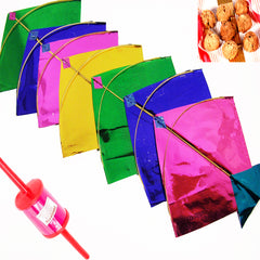 Set of 20 Small Colourful Kites with 200 gms Khajoor