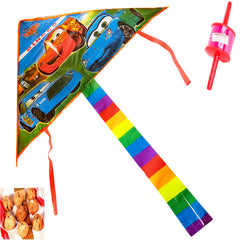 Foldable Kite (Cars) with 200 gms Khajoor