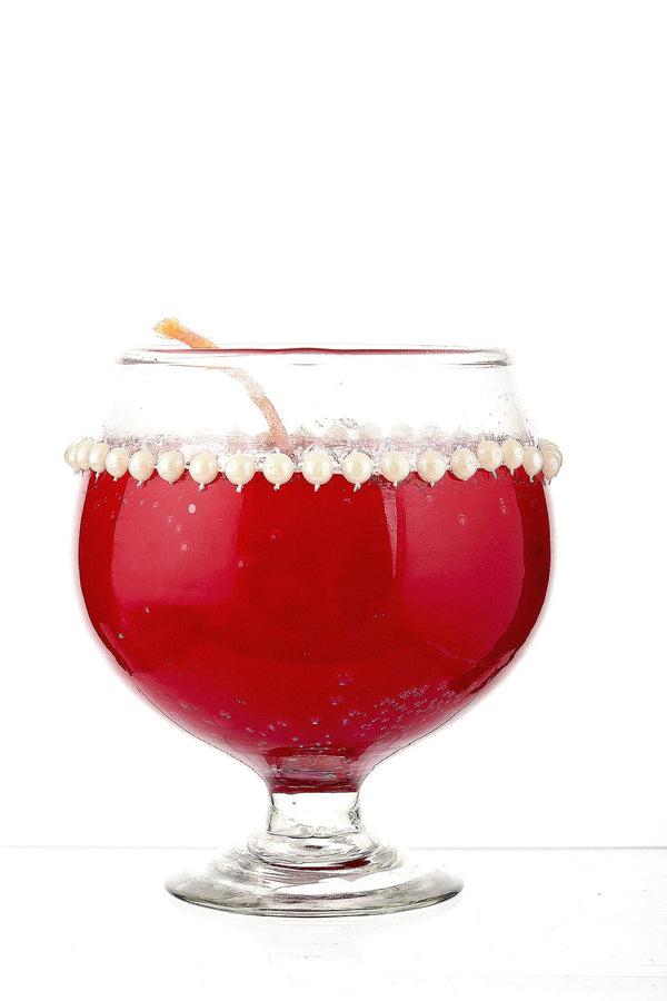 Red Champagne Glass Candles