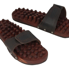 Desi Karigar Wooden Foot Acupressure Slipper Massager