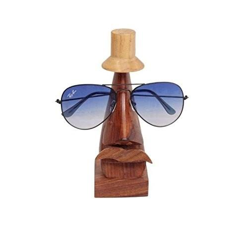 Desi Karigar Handmade Wooden Nose Shaped Spectacle Holder