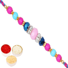 Rakhis Online Usa - FT- 2128 Fancy Thread Rakhi