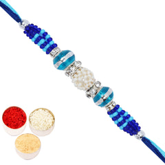 Rakhi for Brother Rakhis online USA - FT- 8866P Fancy Thread Rakhi
