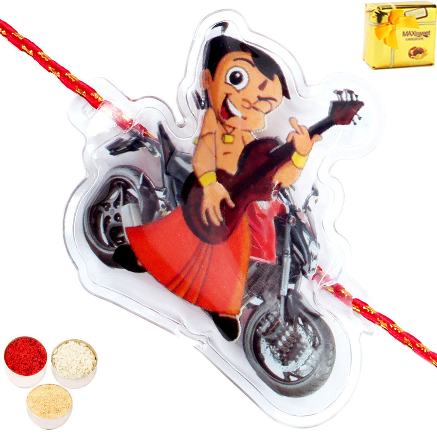Set of 2 Rakhi with Chocolate Gift Box