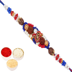 Rakhi for Brother Rakhis Online - Ekomkar Blue Rakhi