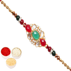 Rakhi for Brother Rakhis Online - St-9118 Mina Stone Rakhi