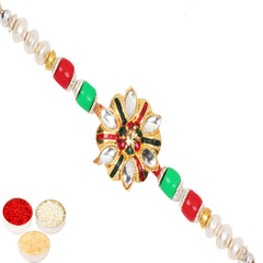 Rakhi for Brother Rakhis Online - St-3902  Mina Stone Rakhi
