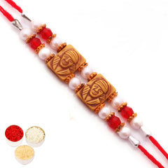Rakhi for Brother Rakhis Online - Sai Baba Wooden Rakhi