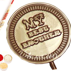 Rakhi Gifts for Brother Rakhi Chocolates- Set of 4  Best Brother Chocolate  Lollies with Red Pearl Rakhi