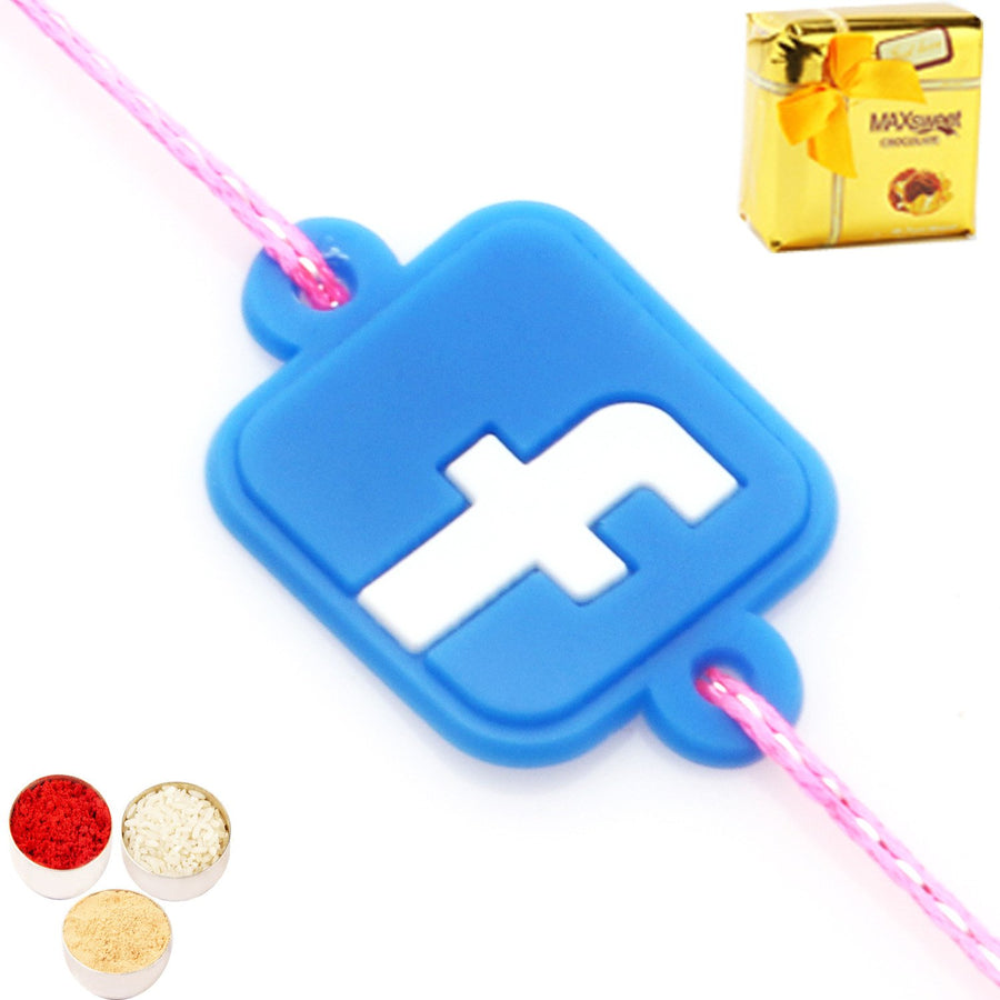 Single Rakhi  with Chocolate Box