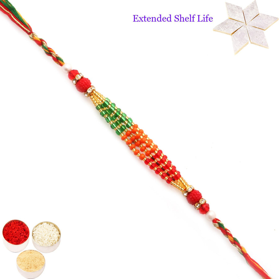 Single Rakhi with 200 gms of Kaju katli
