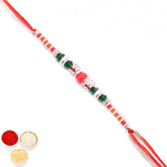 Rakhi for Brother Rakhis Online - FT- 9428 Fancy Thread Rakhi