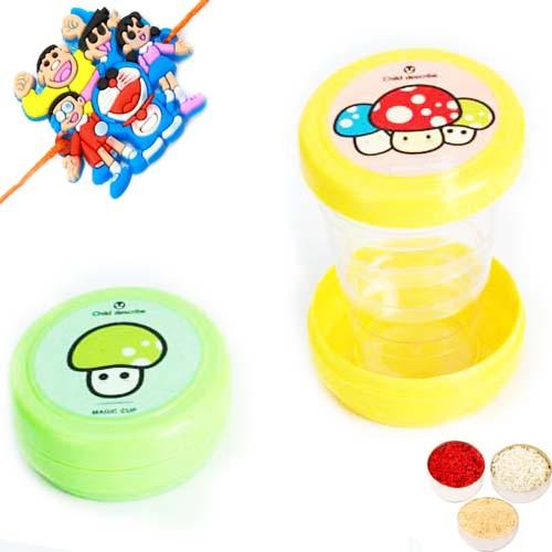 Kids Gifts with Rakhi-Set of 2 Magic Cups