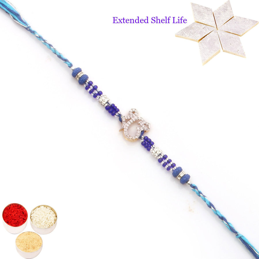 Single Rakhi with 800 gms of Kaju katli