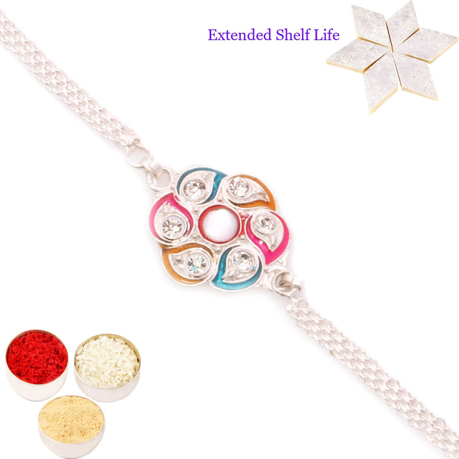 Single Rakhi with 400 gms of Kaju katli