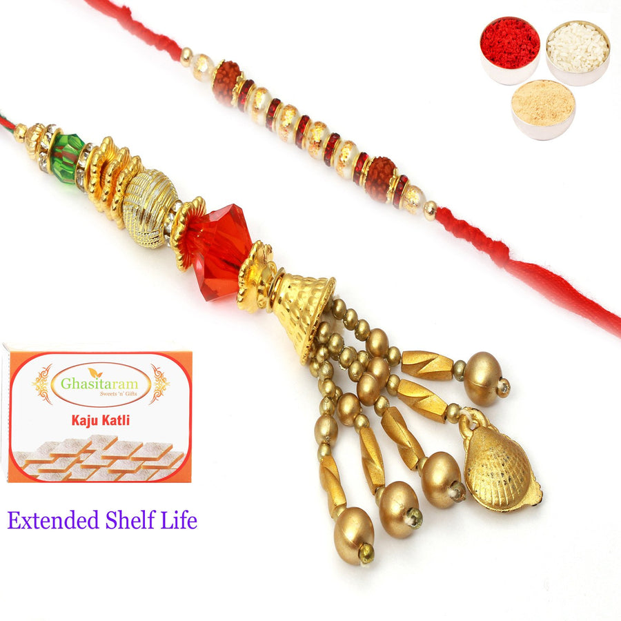 Rakhi Set with 400 gms of Kaju katli