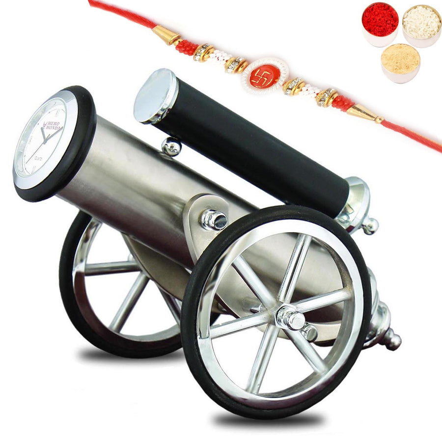 Cannon Clock with Om Swastik Rakhi