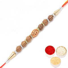 Rakhi for Brother Rakhis Online - The Divine Om Beaded with Diamond Blessings Divine Rakhi