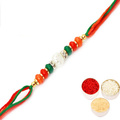 Rakhi for Brother Rakhis Online - FT- 6877 Fancy Thread Rakhi