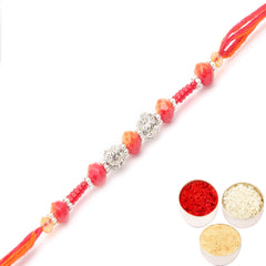 Rakhi for Brother Rakhis Online - FT- 7047  Fancy Thread Rakhi