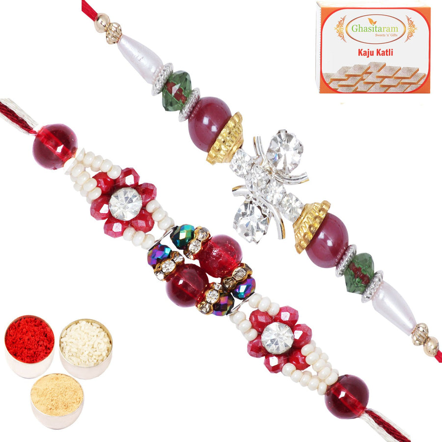 Rakhi Set  with 200 gms of Kaju katli