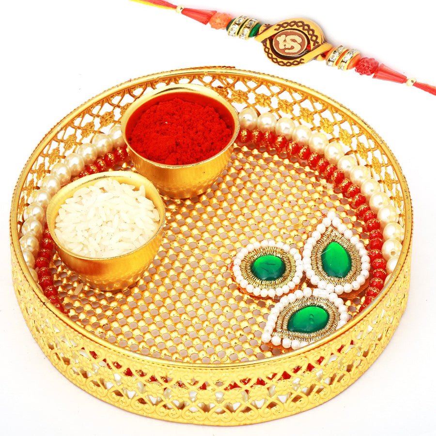 Reusable Metal Pooja Thali with Other Essentials