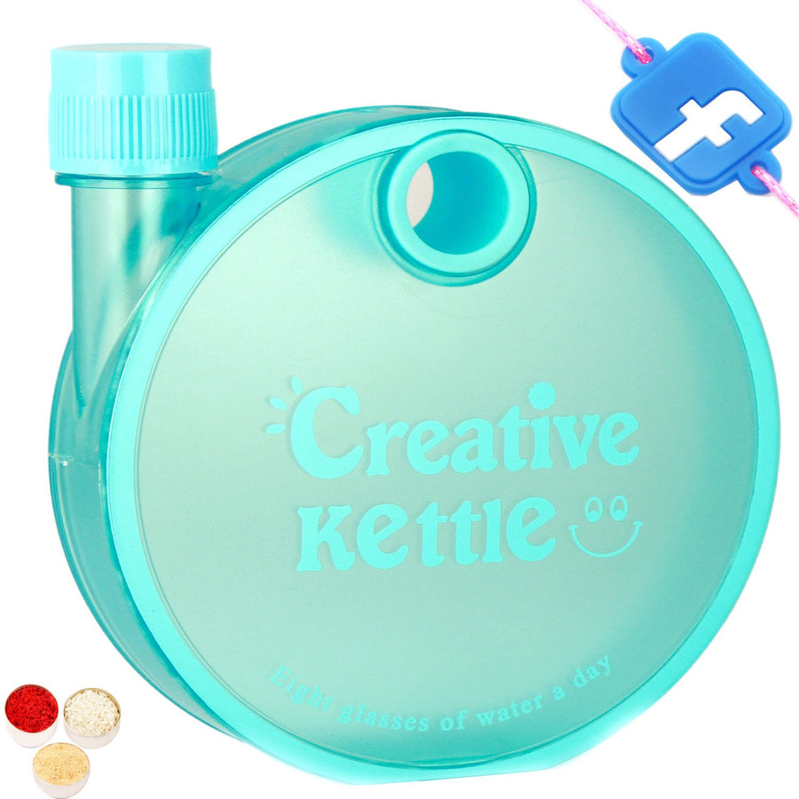 Kids Gifts with Rakhi-Kettle Shaped Bottle