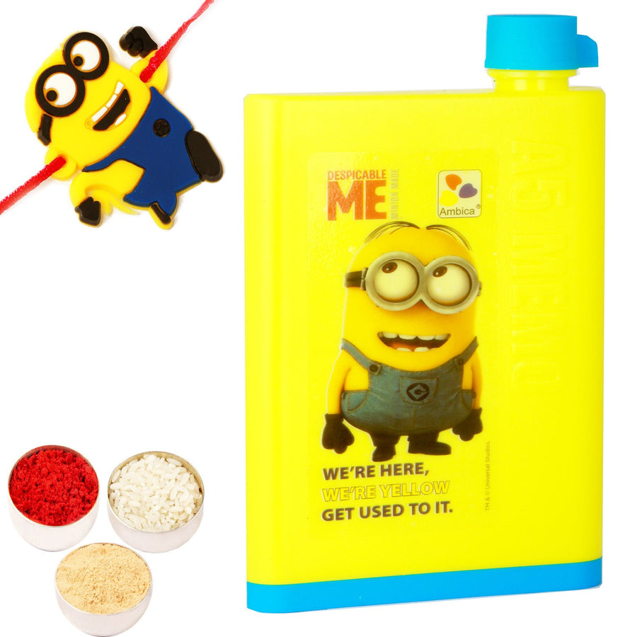 Kids Gifts with Rakhi- A5 Note Book Bottle