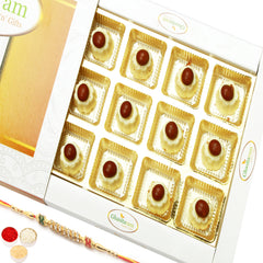 Rakhi Chocolates-Nutties Cup Chocolate  (12 pcs) with Diamond Rakhi