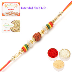 Rakhi for Brother Rakhis Online -6087- Rudraksh  Rakhi