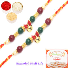Rakhi for Brother Rakhis Online - Set of 2 - 6100 Fancy Thread Rakhi