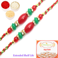 Rakhi for Brother Rakhis Online- Set of 2 - 6790 fancy Thread Rakhi
