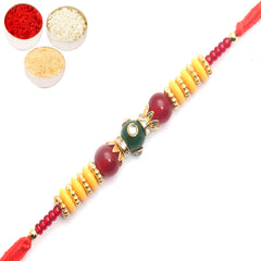 Rakhi for Brother Rakhis Online -  6937 Fancy Thread rakhi