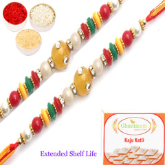 Rakhi for Brother Rakhis Online - Set of 2 - 8001 Fancy Thread Rakhi