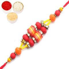 Rakhi for Brother Rakhis Online - 8724 fancy Thread Rakhi