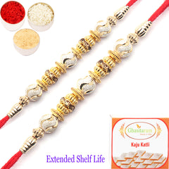 Rakhi for Brother Rakhis Online- Set of 2 - 9883 Fancy Thread Rakhi