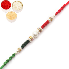Rakhi for Brother Rakhis Online - 1234 Pearl Rakhi for my Brother