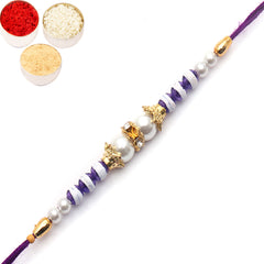 Rakhi for Brother Rakhis Online - 20158 Pearl rakhi for my Brother