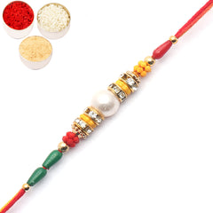 Rakhi for Brother Rakhis Online - 2104 Pearl Rakhi For my Brother