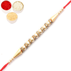 Rakhi for Brother Rakhis Online - 3138 Pearl rakhi for my brother
