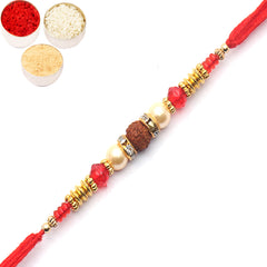 Rakhi for Brother Rakhis Online - 6726 Pearl rakhi for my Brother