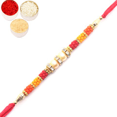 Rakhi for Brother Rakhis Online - 6770 Pearl Rakhi for my Brother