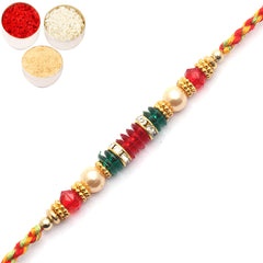 Rakhi for Brother Rakhis Online - 6779 Pearl Rakhi For my brother